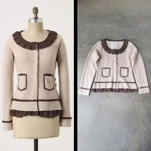Sparrow Au Fait Wool Sweater Jacket medium